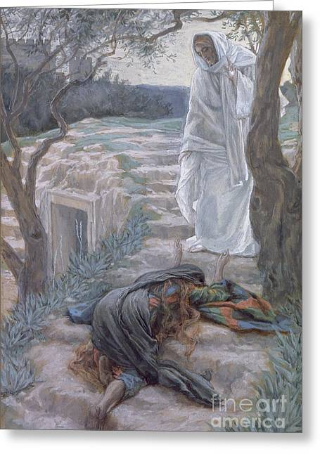 Religious Paintings Greeting Cards - Noli Me Tangere Greeting Card by Tissot