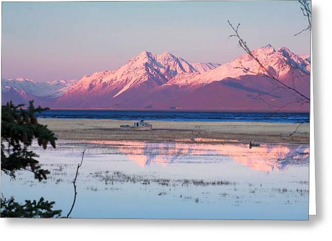 Alaska Lake Greeting Cards - Nomad Greeting Card by Ed Boudreau