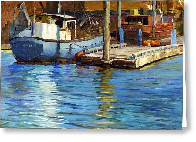 Sailboats Docked Greeting Cards - Nomad II Greeting Card by Jeanne Young