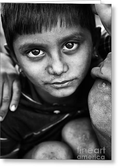 Nomadic Rajasthan Boy Greeting Card by Tim Gainey