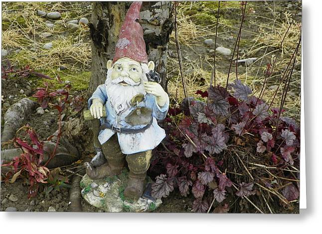 Best Sellers -  - Garden Statuary Greeting Cards - Nomebuddy Took Me...... Greeting Card by Laurie Kidd