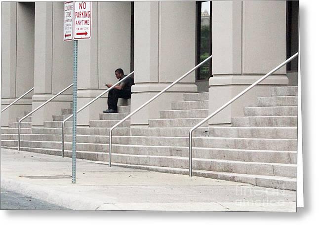 Non Moving Violation Greeting Card by Joe Jake Pratt