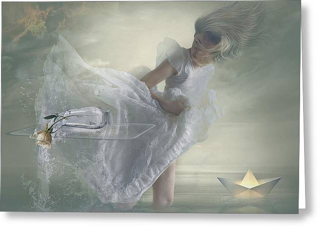 """photo Manipulation"" Greeting Cards - Nonchalance. Greeting Card by Nataliorion"