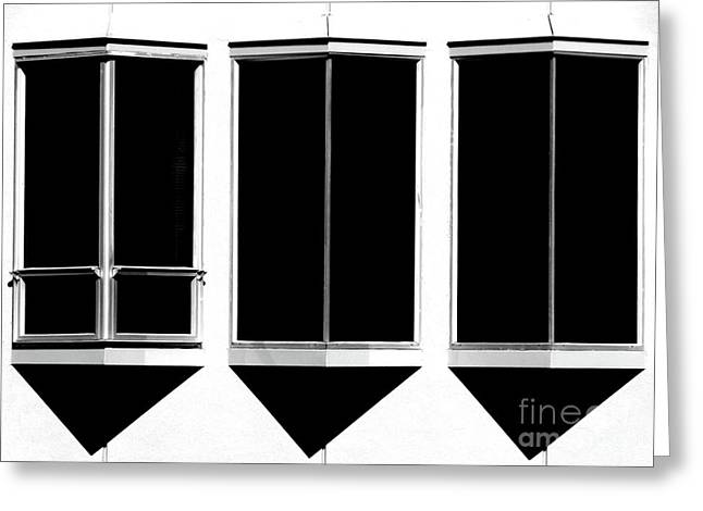 None More Black Greeting Card by CML Brown