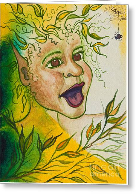 Magickal Greeting Cards - Nonie of the Whimsical and Magickal Realm No. 2284 Greeting Card by Ilisa  Millermoon