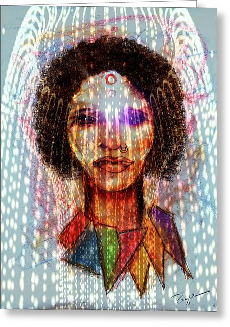 Metaphysics Pastels Greeting Cards - NoNo Greeting Card by Roger Hanson