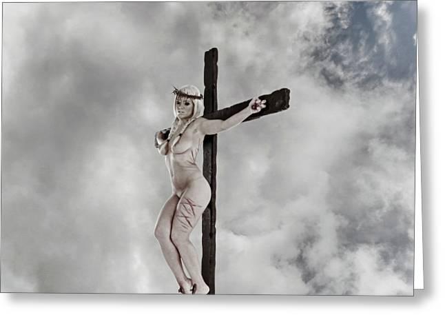 Nordic Female Jesus Greeting Card by Ramon Martinez