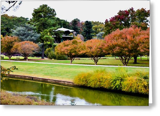 Park Greeting Cards - Norfolk Botanical Gardens Canal 13 Greeting Card by Lanjee Chee