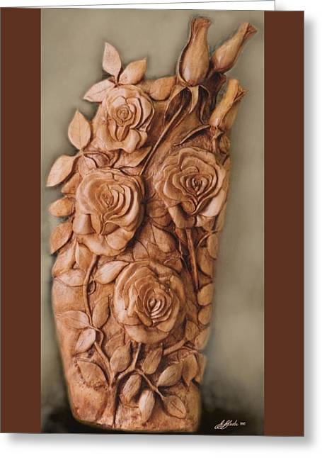 Roses Sculptures Greeting Cards - NORFOLK ROSES by G W Jay Jacobs Greeting Card by G Jay Jacobs
