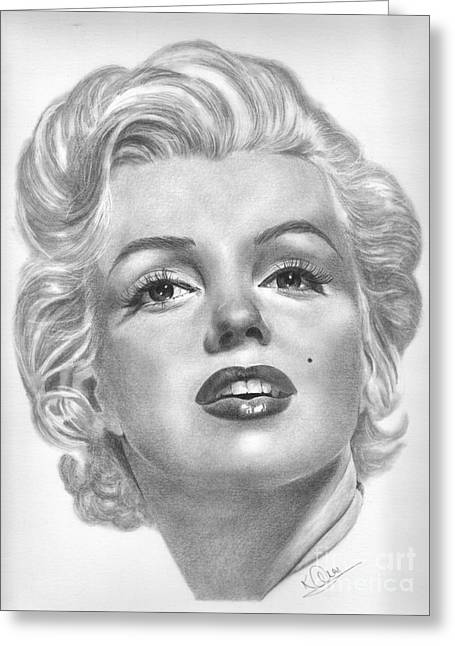 Norma Jean Greeting Card by Karen  Townsend