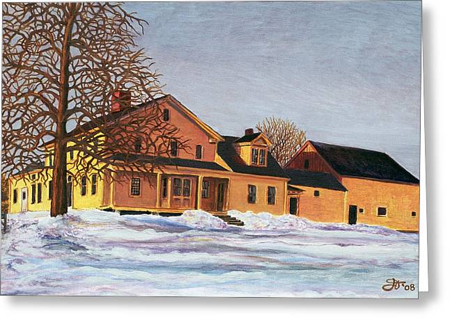 Recently Sold -  - Old Maine Barns Greeting Cards - Norman Greeting Card by Jeff Toole