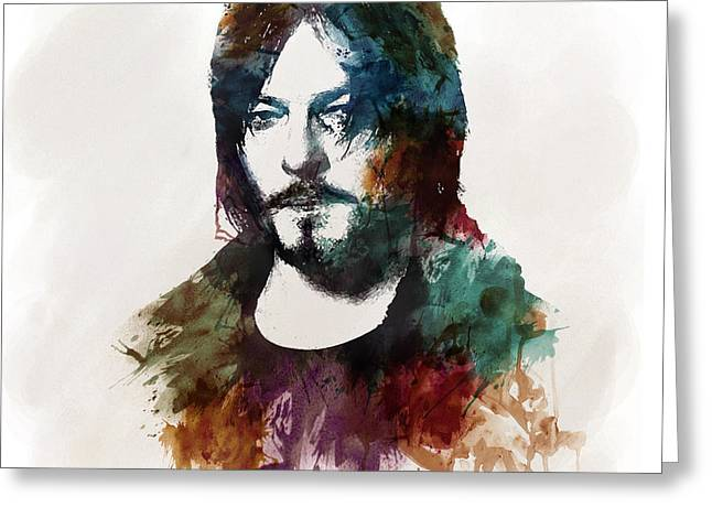 Marian Greeting Cards - Norman Reedus aka Daryl Dixon from The Walking Dead  Greeting Card by Marian Voicu