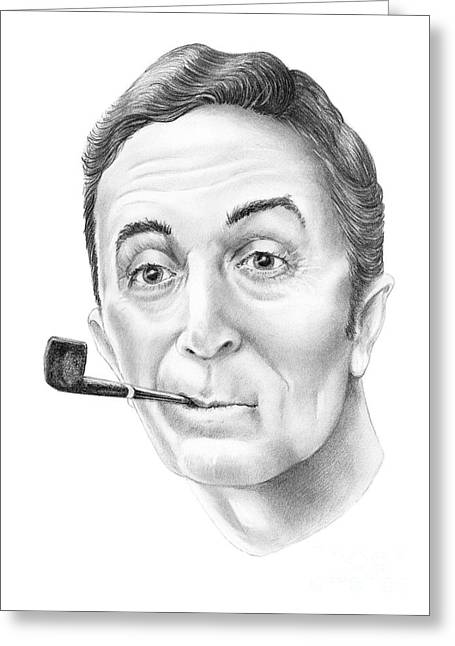 Norman Drawings Greeting Cards - Norman Rockwell by Murphy Art. Elliott Greeting Card by Murphy Elliott