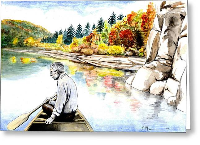 Blackfoot River Greeting Cards - Norman Greeting Card by Scott Manning