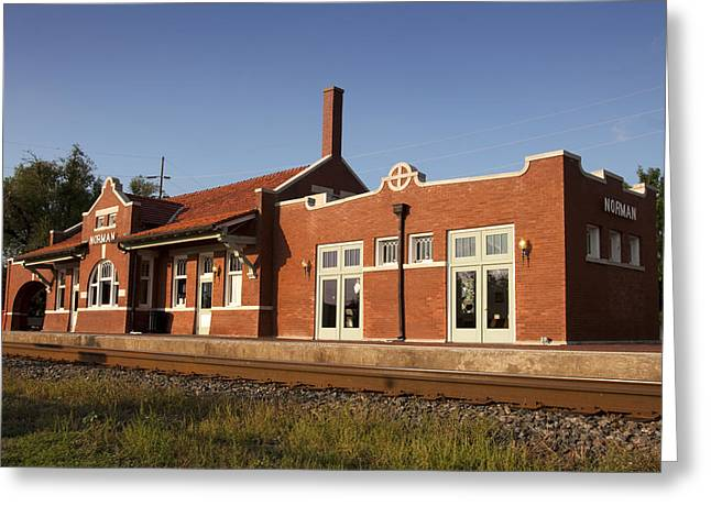 Train Depot Greeting Cards - Norman Train Depot Greeting Card by Ricky Barnard
