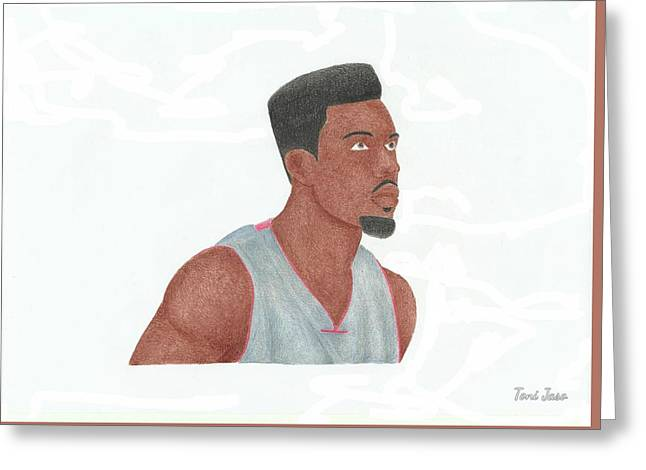 Slam Drawings Greeting Cards - Norris Cole Greeting Card by Toni Jaso