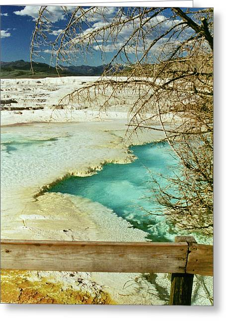 Recently Sold -  - Landscape Framed Prints Greeting Cards - Norris Hot Spring Greeting Card by Greg Norrell