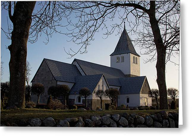 Nors Kirke Greeting Card by Eric Sloan
