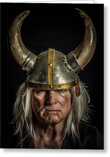 Self-portrait Photographs Greeting Cards - Norseman Greeting Card by Randy Turnbow