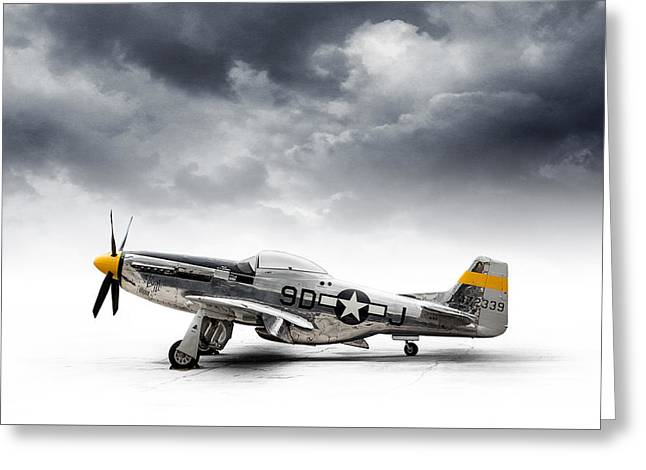 North American P-51 Mustang Greeting Card by Douglas Pittman