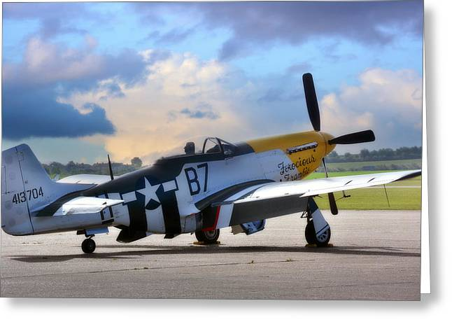Ferocious Frankie Greeting Cards - North American P-51 Mustang Greeting Card by Jason Green