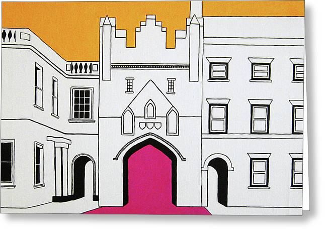 Super Castle Greeting Cards - North Bar Greeting Card by Oliver Johnston
