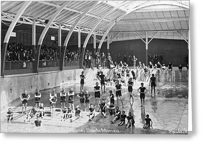 North Beach Bath House Greeting Card by Underwood Archives