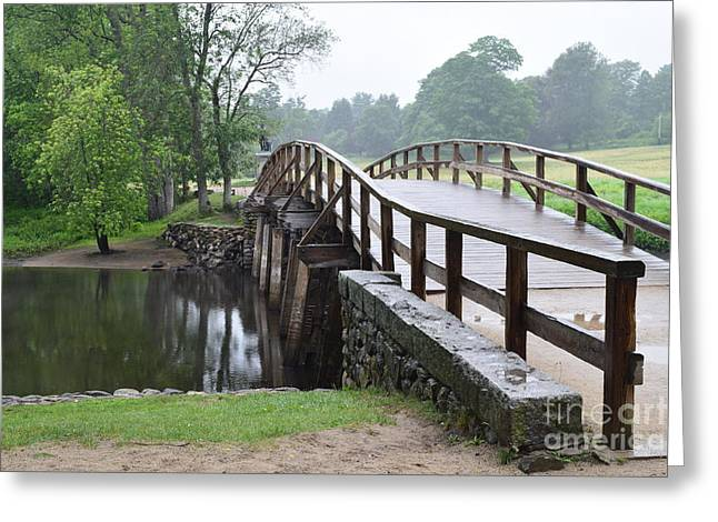 Alcott Greeting Cards - North Bridge Greeting Card by Leslie M Browning