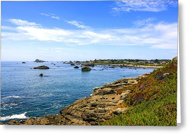 Outlook Greeting Cards - North California Coastline Greeting Card by Chris Smith