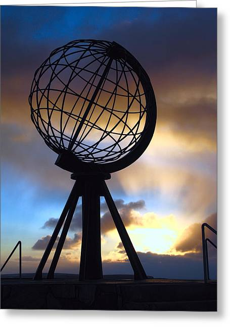 North Cape Norway - The End Of The World Greeting Card by Daniel Hagerman