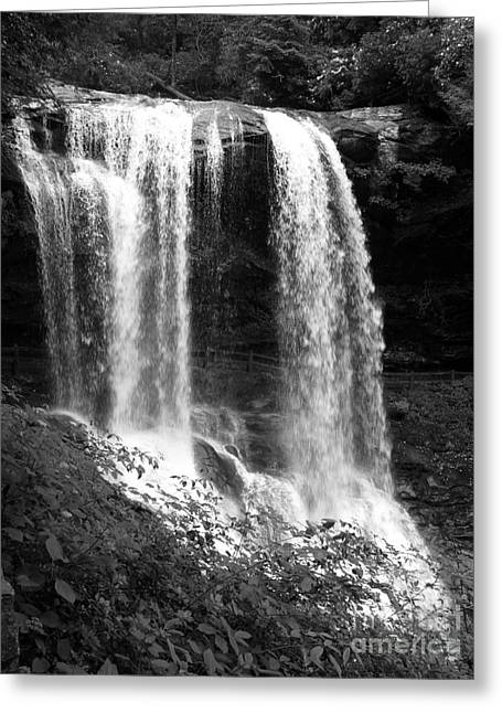 North Carolina Dark Falls Greeting Card by Julian Bralley