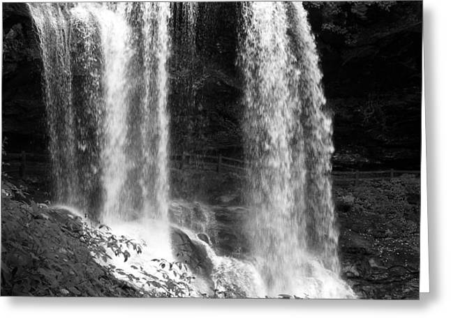 North Carolina Dark Falls Greeting Card by Julian Bralley