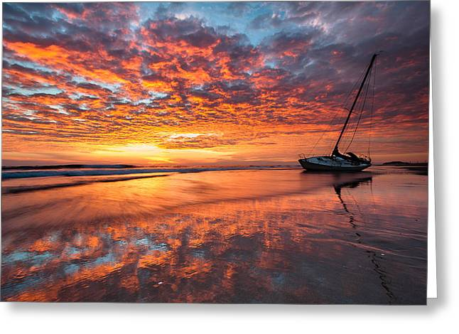 Pea Island Greeting Cards - North Carolina Outer Banks Graveyard of the Atlantic Shipwreck Greeting Card by Mark VanDyke