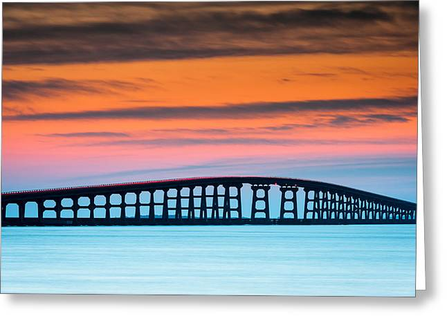 Pea Island Greeting Cards - North Carolina Outer Banks Herbert C. Bonner Oregon Inlet Bridge Greeting Card by Mark VanDyke