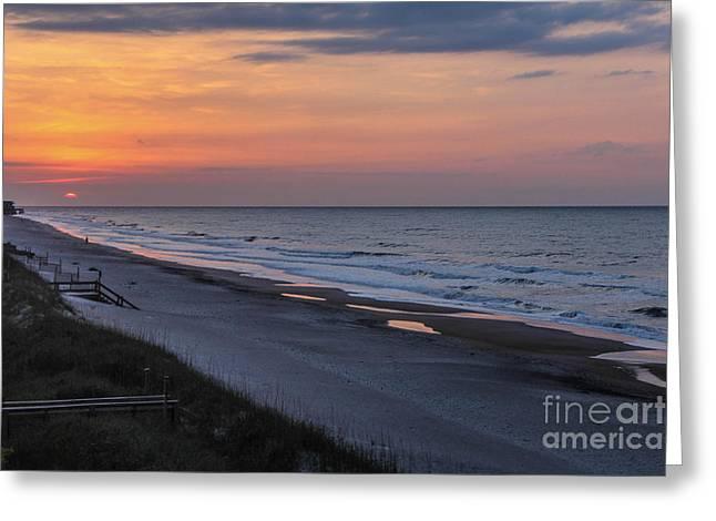 Saw Greeting Cards - North Carolina Sunrise Greeting Card by Joe Far Photos