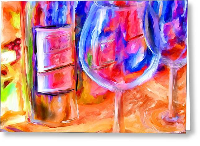 Marilyn Sholin Mixed Media Greeting Cards - North Carolina Wine Greeting Card by Marilyn Sholin