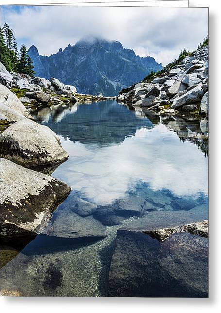 North Cascades Greeting Cards - North Cascade Infinity Pool Greeting Card by Pelo Blanco Photo