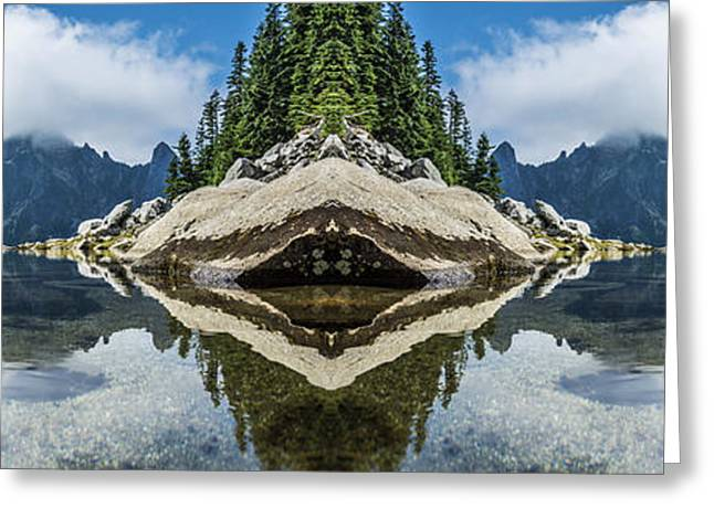 North Cascades Greeting Cards - North Cascade Infinity Pool Reflection Greeting Card by Pelo Blanco Photo