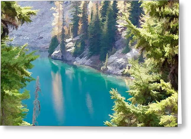 North Cascade National Park Greeting Card by Lanjee Chee