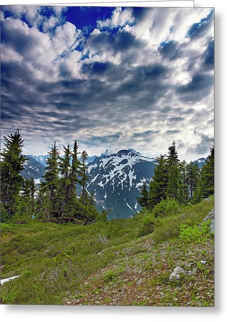Rugged Terrain Greeting Cards - North Cascades National Park - Washington Greeting Card by Brendan Reals