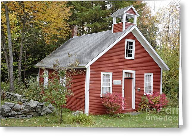 Historic England Greeting Cards - North District School House - Dorchester New Hampshire Greeting Card by Erin Paul Donovan