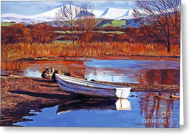 North England Lake Greeting Card by David Lloyd Glover
