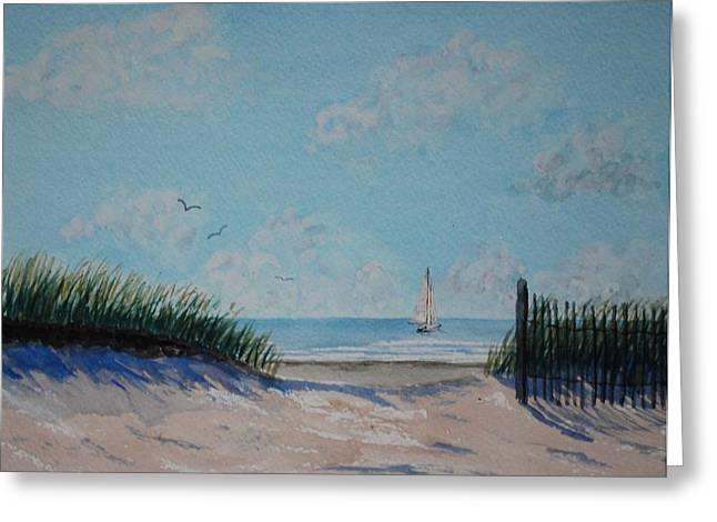 Stanton Allaben Greeting Cards - North Forest Beach Greeting Card by Stanton Allaben