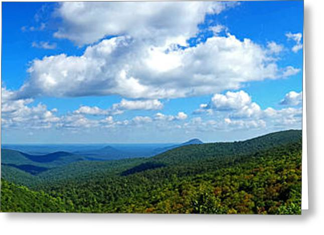 Mountain Valley Greeting Cards - North Georgia Mountain Vista 002 Greeting Card by George Bostian