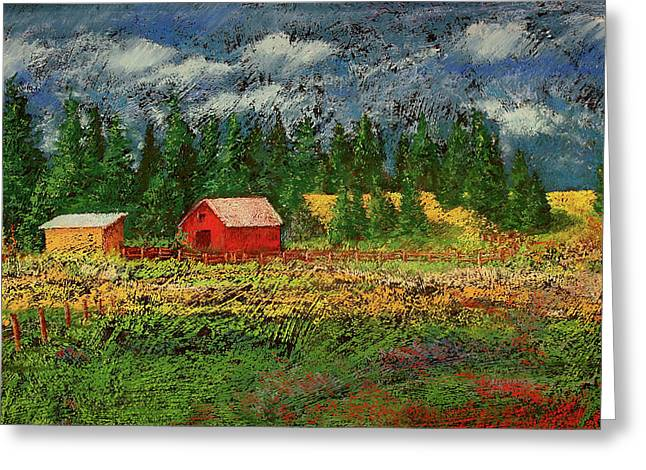 North Idaho Farm Greeting Card by David Patterson