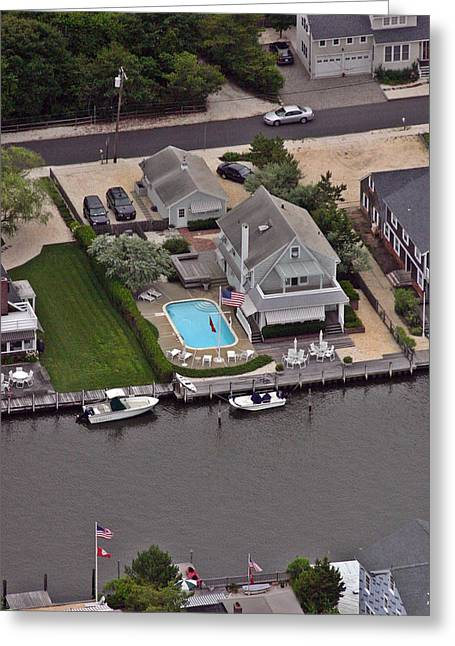 Pool Deck Greeting Cards - North Lagoon Mantoloking New Jersey Greeting Card by Duncan Pearson