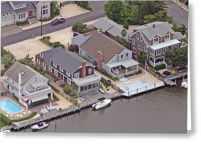 Custom Aerial Greeting Cards - North Lagoon Mantoloking New Jersey II Greeting Card by Duncan Pearson