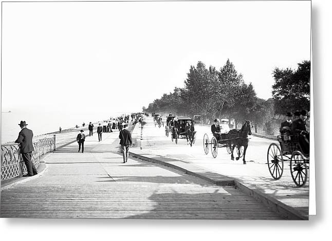 North Lake Shore Drive - Chicago 1905 Greeting Card by Daniel Hagerman