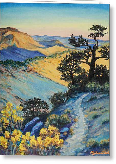Pacific Crest Trail Greeting Cards - North of Walker Pass on the PCT Greeting Card by Sky Evans