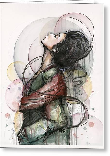 North  Greeting Card by Olga Shvartsur